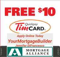Free $10 Tim Hortons Card 1st 2nd Mortgages Refinancing Loans