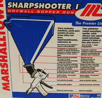 Marshalltown 693 Sharpshooter Hopper Gun Texture Sprayer