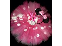 Mini mouse tutu and matching accessories