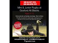 Youth rugby training returns Sunday 4th September