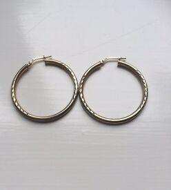 3.6g gold 9vt hoops