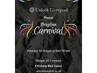 Early Bird tickets to Unlock Liverpool Brazilian Carnival