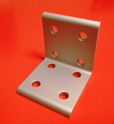 8020 Inc Equivalent Aluminum 8 Hole Inside Corner Bracket 10 Series Pn 4114 New