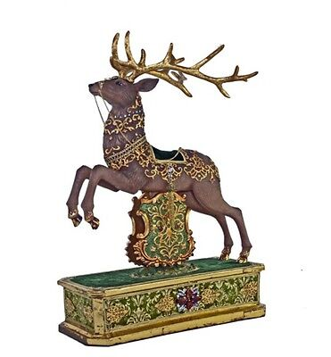 Katherine's Collection Regimental Reindeer Mantle Christmas Display New