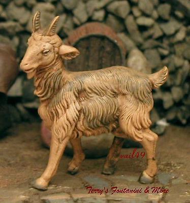 "FONTANINI DEPOSE ITALY 5"" SERIES STANDG GOAT NATIVITY VILLAGE ANIMAL FIGURE MINT"