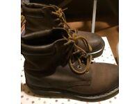 Dr Marten Brown Boots Size 6 Vintage Look - Hardly Worn