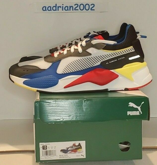 Puma Men's RS-X Toys White Royal Red Grey Yellow NEW US SIZE 13 # 369449 02