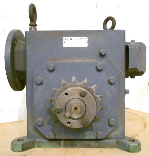 FALK OMNIBOX WORM/GEAR REDUCER #525WBCM1A, 50:1, FRAME 50, 5.26 HP, 1750 RPM