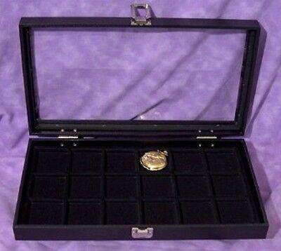 Pocket Watch Jewelry 18 Slot Glass Top Jewelry Display
