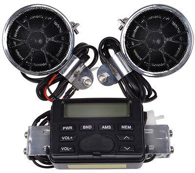 Motorcycle Handlebar Mount Audio Radio MP3 Speaker AUX input For Suzuki Cruisers