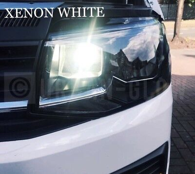 VW TRANSPORTER T5 T6 LED BRIGHT ICE WHITE DRL DAYTIME RUNNING LIGHT BULBS CANB gebraucht kaufen  Versand nach Austria
