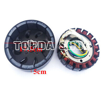 3000 Watt 18 Pole Voltage Stator And Rotor Kit For Dc Generator 41mmoutput Shaft