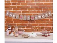 Wedding or Party - Love is Sweet Bunting - BRAND NEW