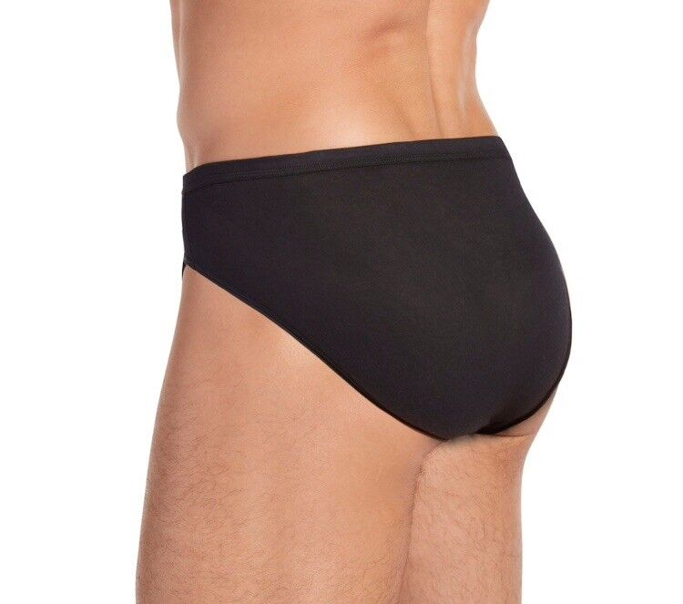 Hanes mens bikini brief black