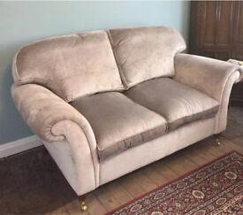 Laura Ashley velvet 2 & 3 seater sofa