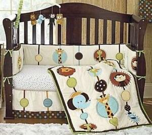 Jungle Theme Crib Bedding/Lamp/Valance/Mobile