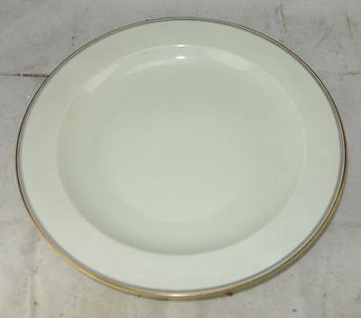 Langenthal Porzellan Elfenbein mit Goldrand großer runder Servierteller 30,8 cm