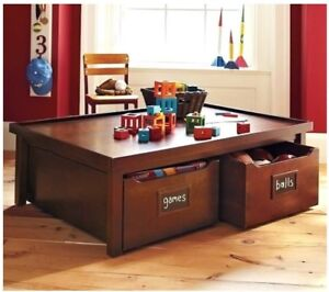 Pottery Barn Activity Table with Roll Drawers