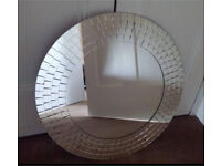 NEXT HOME round mosaic tile mirror- great for bathrooms! NEGOTIABLE PRICE