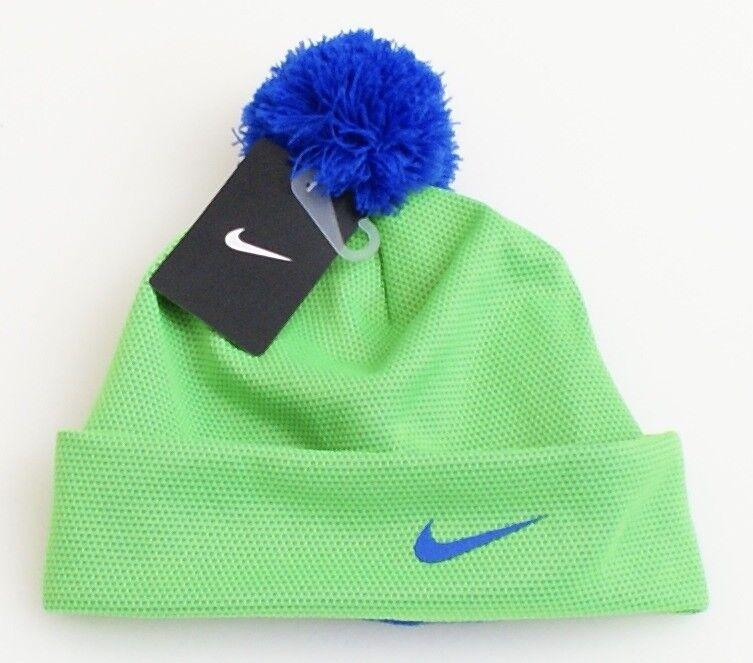 e388fa4a95a Nike Green Cuff Beanie Skull Cap with Pom Pom Youth Boy s 8-20 NWT
