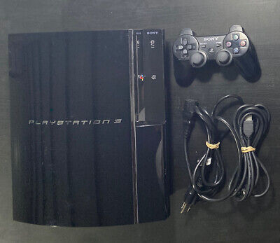 Sony PlayStation PS3 Fat 60GB Backwards PS2 PS1 Compatible CECHA01
