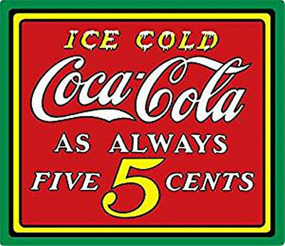 Ice Cold Coca Cola Tin (Ice Cold Coca - Cola 5 Cents Metal Tin Sign- Coke- Ande Rooney)