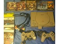 PS1 With 12 Copied Games - 2 Pads