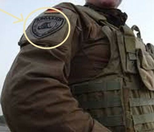 PRIVATE MILITARY CONTRACTOR GERMAN SECURITY GROUP ASGAARD GSG burdock INSIGNIA