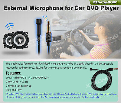 Ext Microphone For Car Stereo - YOU MUST BUY MY CAR STEREO FIRST - Add On Part