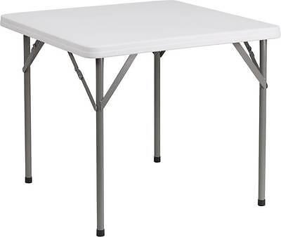"""Flash Furniture 34"""" Square Granite White Plastic Folding Tab"""