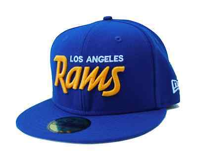 NFL Los Angeles Rams New Era Script with back Helmet 59Fifty Fitted Hat - Royal](Nfl New Helmets)