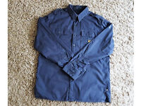 "Mens XL navy long sleeve 17"" neck G-Star Raw shirt"