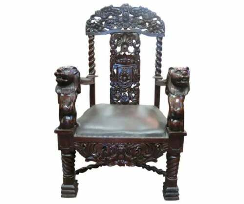 Large Vintage Throne Or Wedding Chair