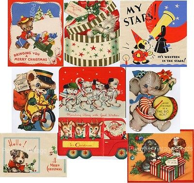 Vintage Christmas Greeting Cards V7 380 Images On Cd