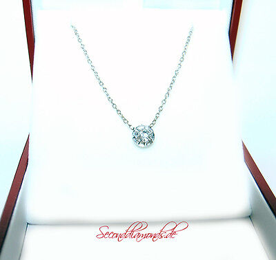 Halbkaräter Solitär Diamant Collier ca. 0,50 ct 18 kt  750 Gold Liebesgeschenk