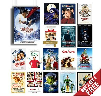 BEST CHRISTMAS MOVIES OF ALL TIMES * Vintage Classic Film Movie Posters A3 A4