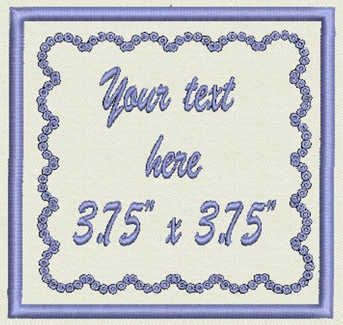 """Custom Patch Square Patch 3.75"""" - Add text - Iron On, or Sew On"""