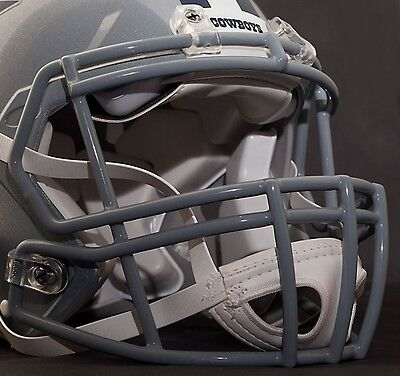 05c6d34a8e5 DALLAS COWBOYS Riddell Speed S2BD-SP Football Helmet Facemask Faceguard  (GRAY)