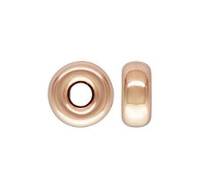 14k Gold Rose Beads - 14k Rose Gold Filled 3mm Rondelle Spacer Beads 20pcs #7111-1