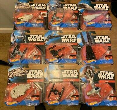 Star Wars Hot Wheels Bundle Disney The Force Awakens Starships Die Cast Job Lot