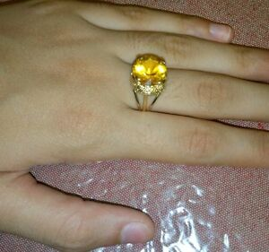 14KT YELLOW GOLD CITRINE AND DIAMOND RING London Ontario image 5
