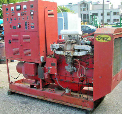 30 Kw Warner Swazey Emergency Generator 1200 Rpm W Continental 6 Cyl Engine