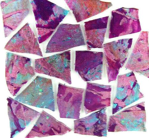 100 Metallic PURPLE PINK BLUE GLITZ  Mosaic Glass Tile by Makena Tile