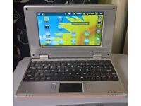 "9"" pink Android laptop"
