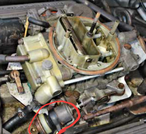 1983 ford 351W 4BBL carb idle stop solenoid