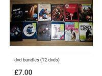 Dvd bundle (12 movies)