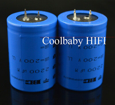 2pcs Philips Bc 038 200v 2200uf 3550mm Audiophile Grade Capacitor