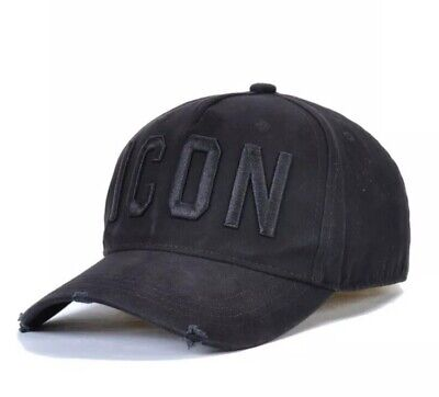 DSQUARED2 DSQ2 Black ICON Baseball Cap 2020 Brand New With Tags