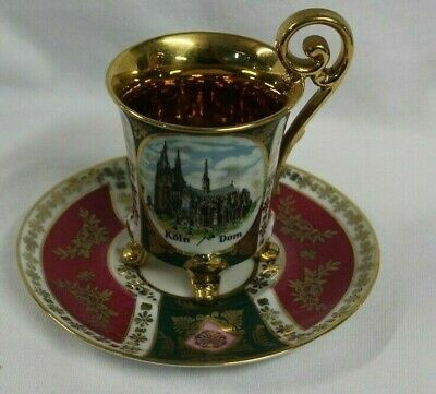 Bavaria Germany Mayer Wiesau Koln Dom Cologne Cathedral Demitasse CUP & SAUCER -