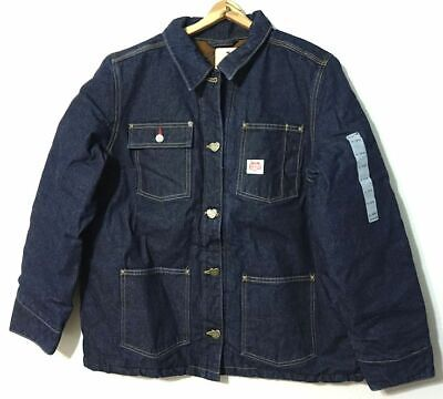 Carhartt Heritage Denim Chore Coat Jacket Womens XL Button Front Durable Warmth